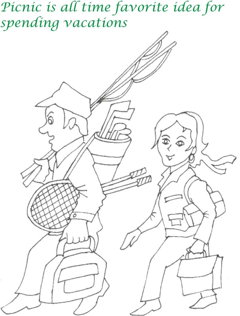 Vacations days printable coloring page for kids 10
