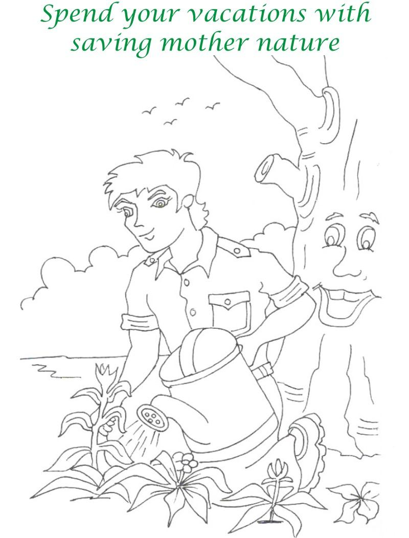 Vacations days printable coloring page for kids 20