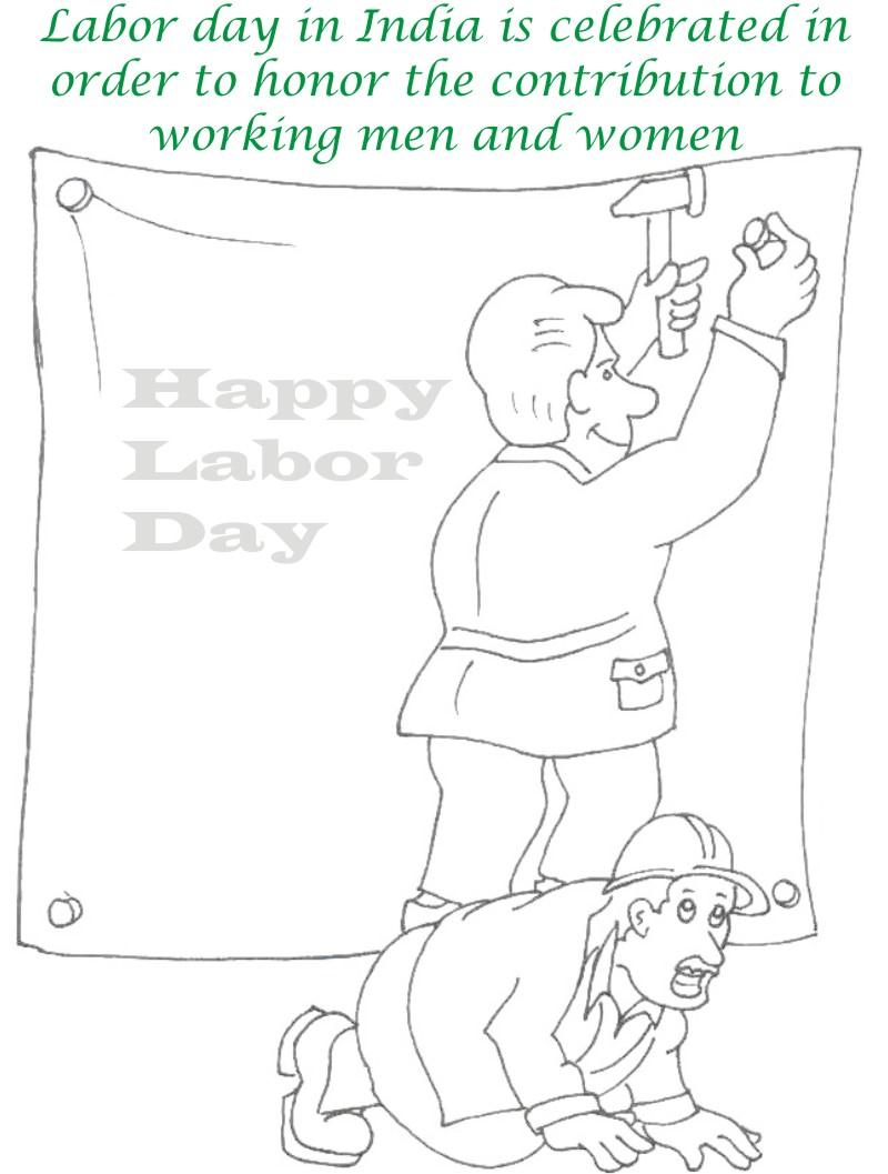 photo relating to Labor Day Printable titled Labor Working day printable coloring web page for youngsters 7