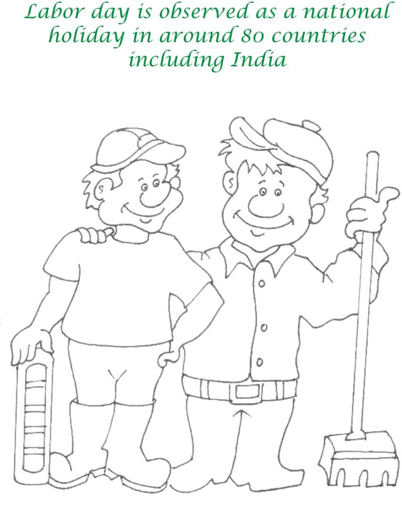 Labor Day printable coloring page for kids 8