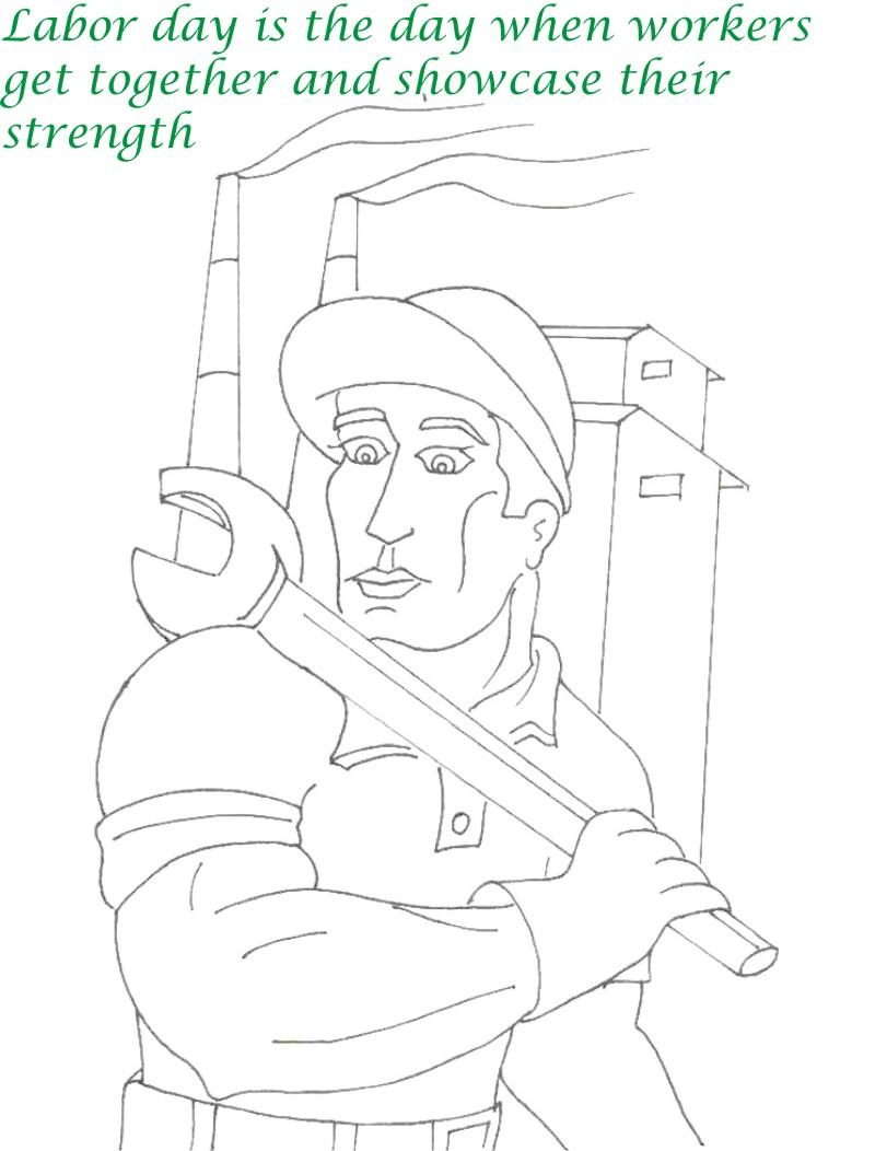 Labor Day printable coloring page for kids 14