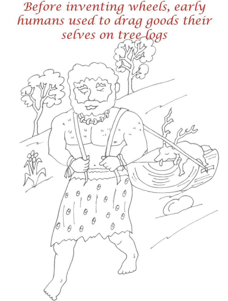 Early Humans printable coloring page for kids 11