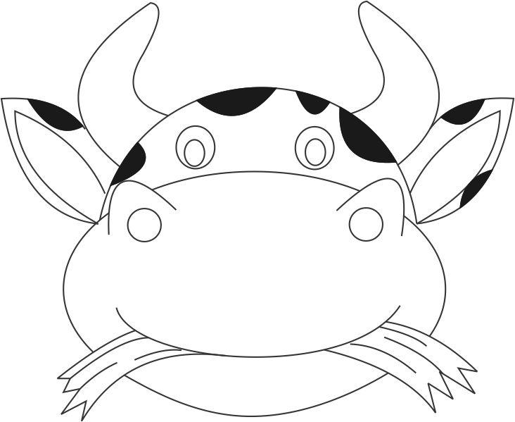 graphic relating to Printable Cow Mask identify Cow Mask printable coloring site for youngsters