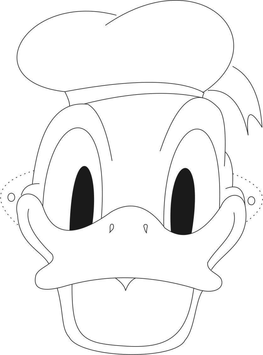 Donald Mask printable coloring