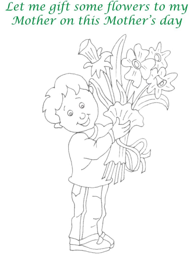 Mothers day printable coloring page for kids 8
