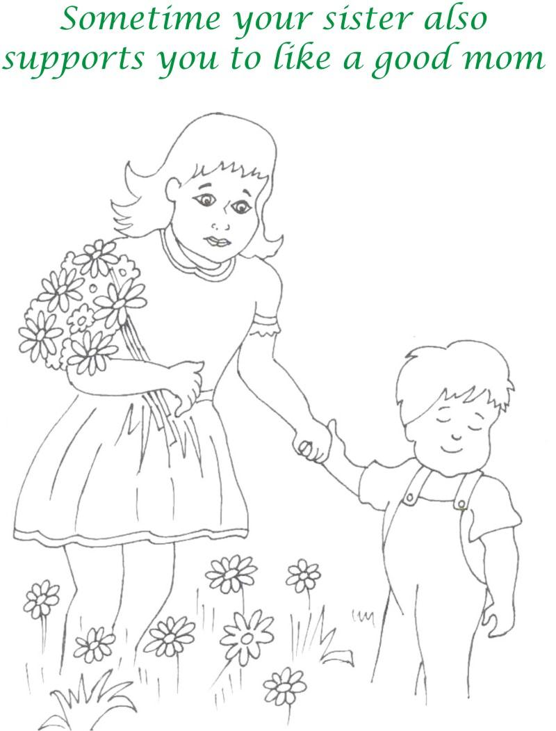 Mothers day printable coloring page for kids 16