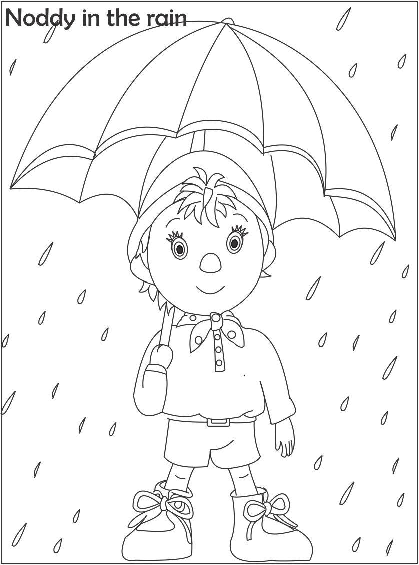 Noddy coloring printable page for kids 2