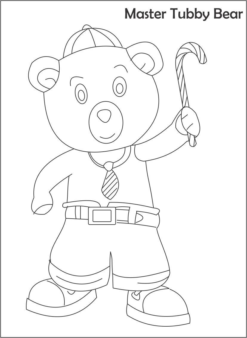 Master tubby bear printable coloring