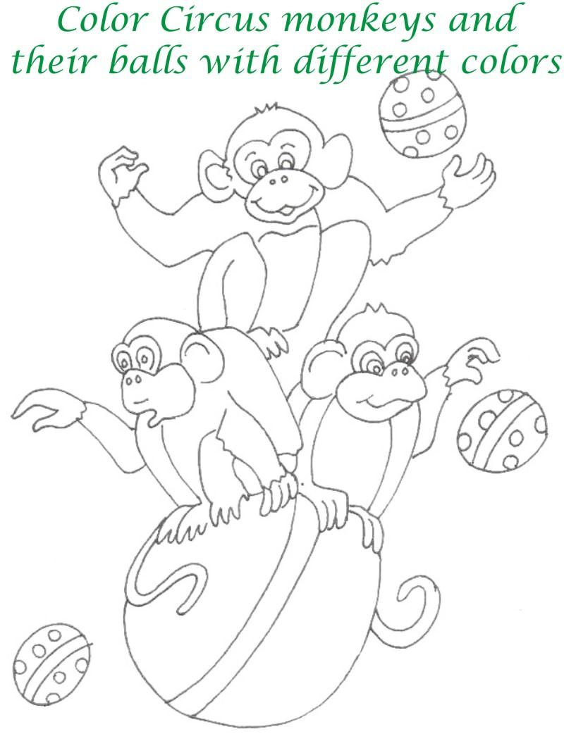 Circus printable coloring page for kids 20
