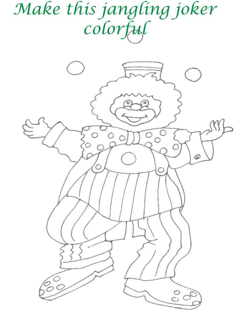 Circus printable coloring page for kids 23