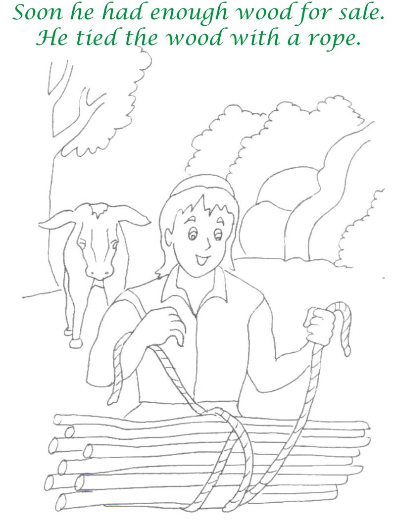 Alibaba story printable coloring page for kids 5