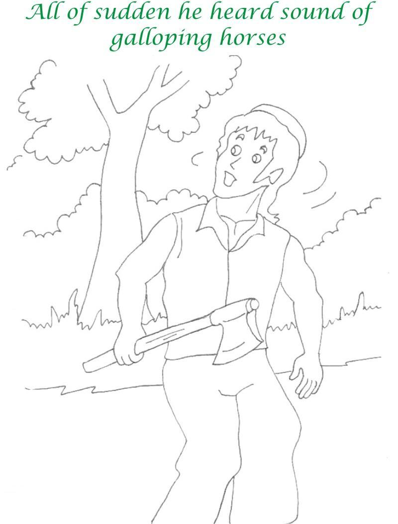 Alibaba story printable coloring page for kids 8