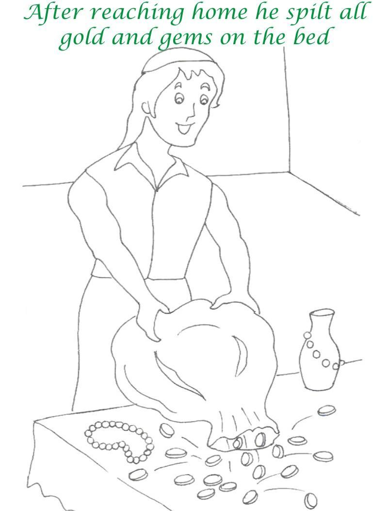 Alibaba story printable coloring page for kids 25