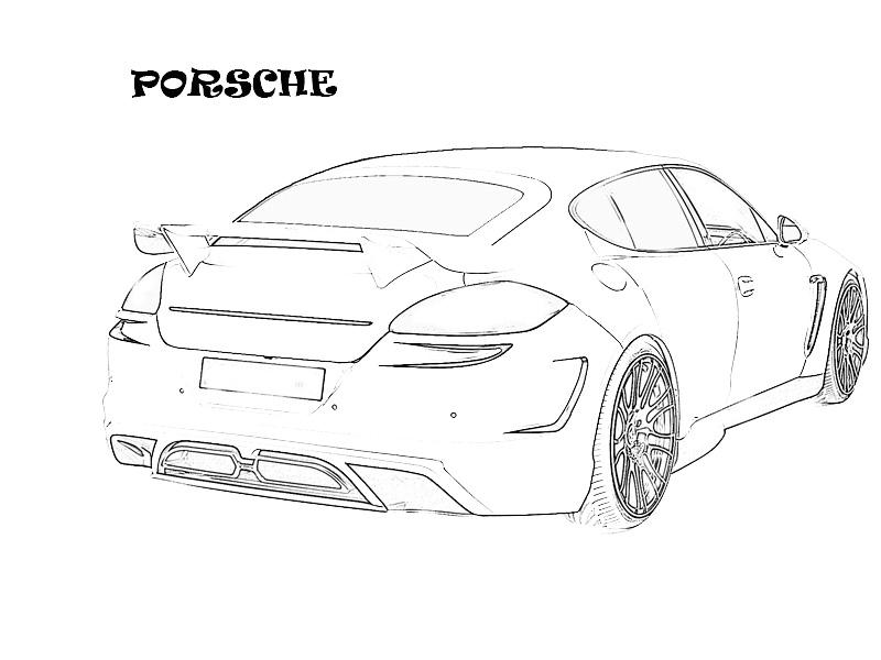 coloring pages cars kids printable | Exotic cars printable coloring page for kids 4