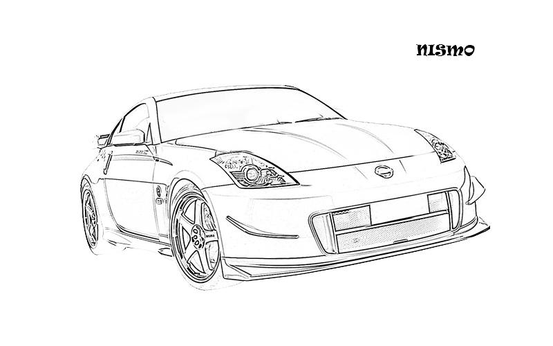 coloring pages cars kids printable | Exotic cars printable coloring page for kids 7