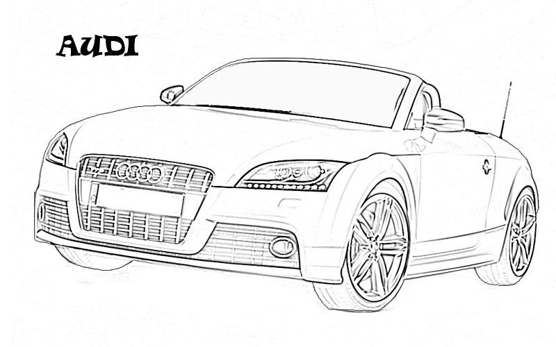Exotic Cars Printable Coloring Page For Kids 8