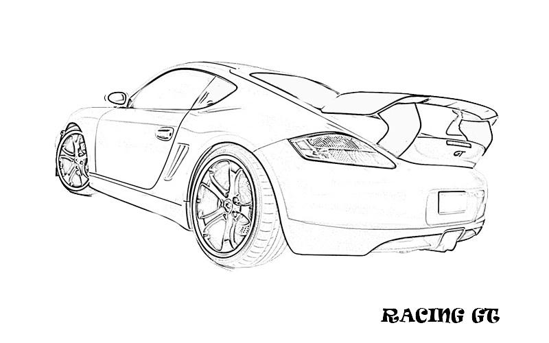 Exotic Cars Printable Coloring Page For Kids 11