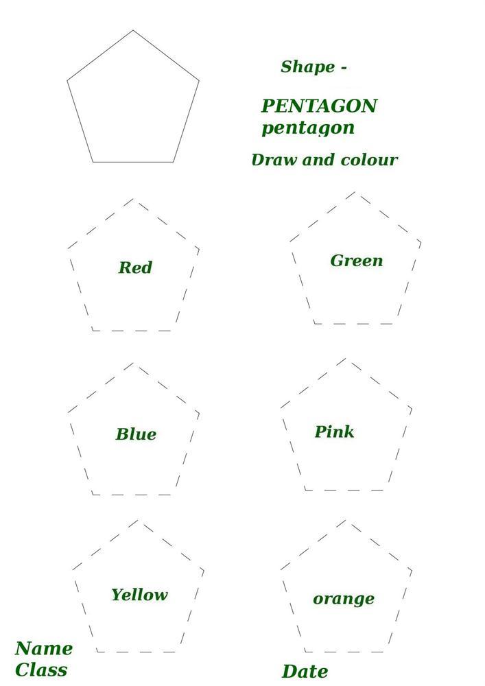 shape activity worksheet pentagon. Black Bedroom Furniture Sets. Home Design Ideas