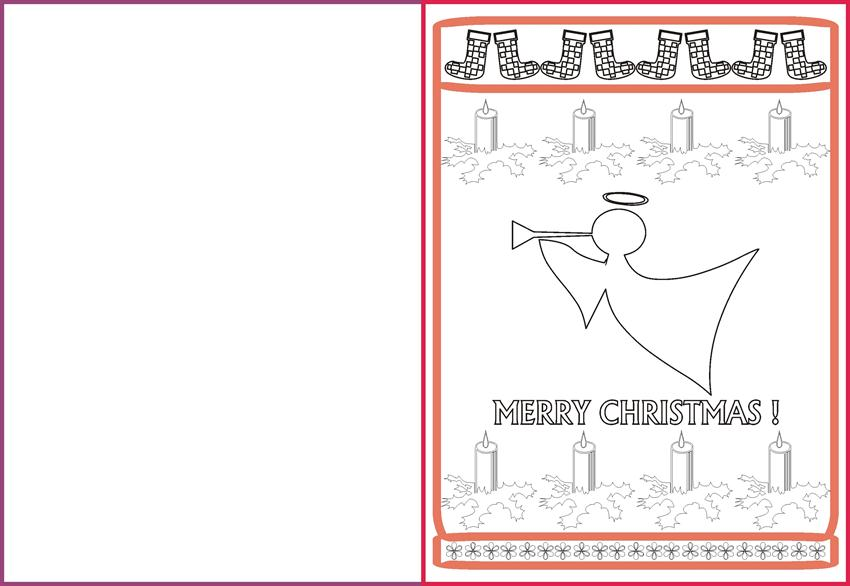 Christmas Greeting Cards & Coloring Pages for Kids - Christmas Angel