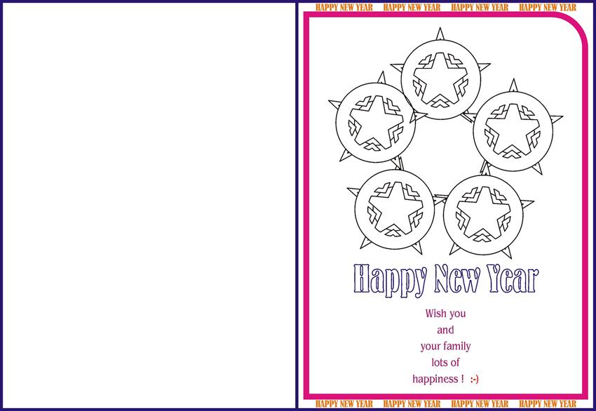 New Year Greetings card for kids - 13