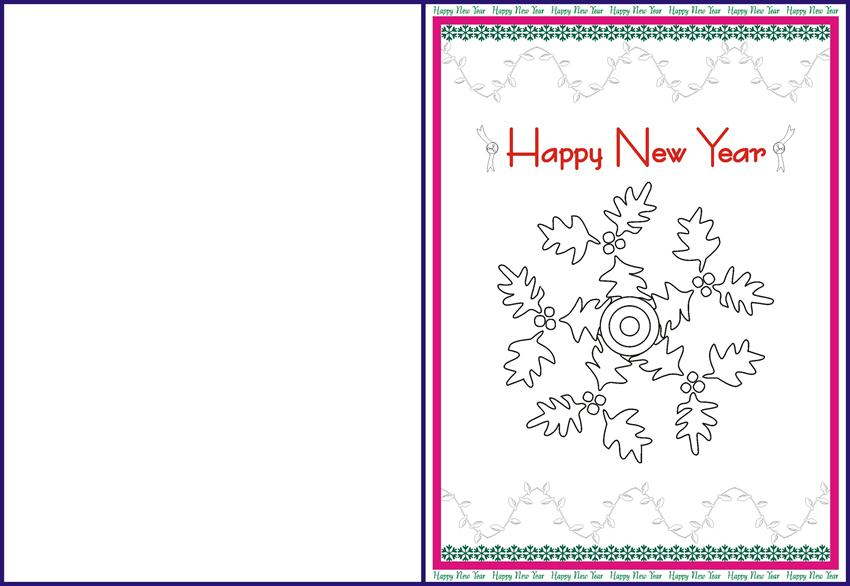 picture regarding Printable New Year Cards named Refreshing Yr Greetings card for small children - 1