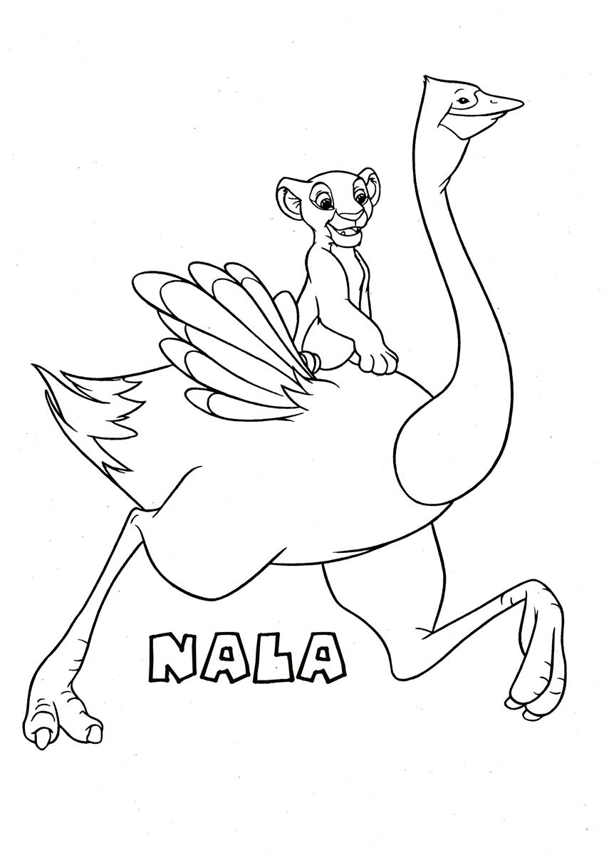 Nala2 the lion king coloring page