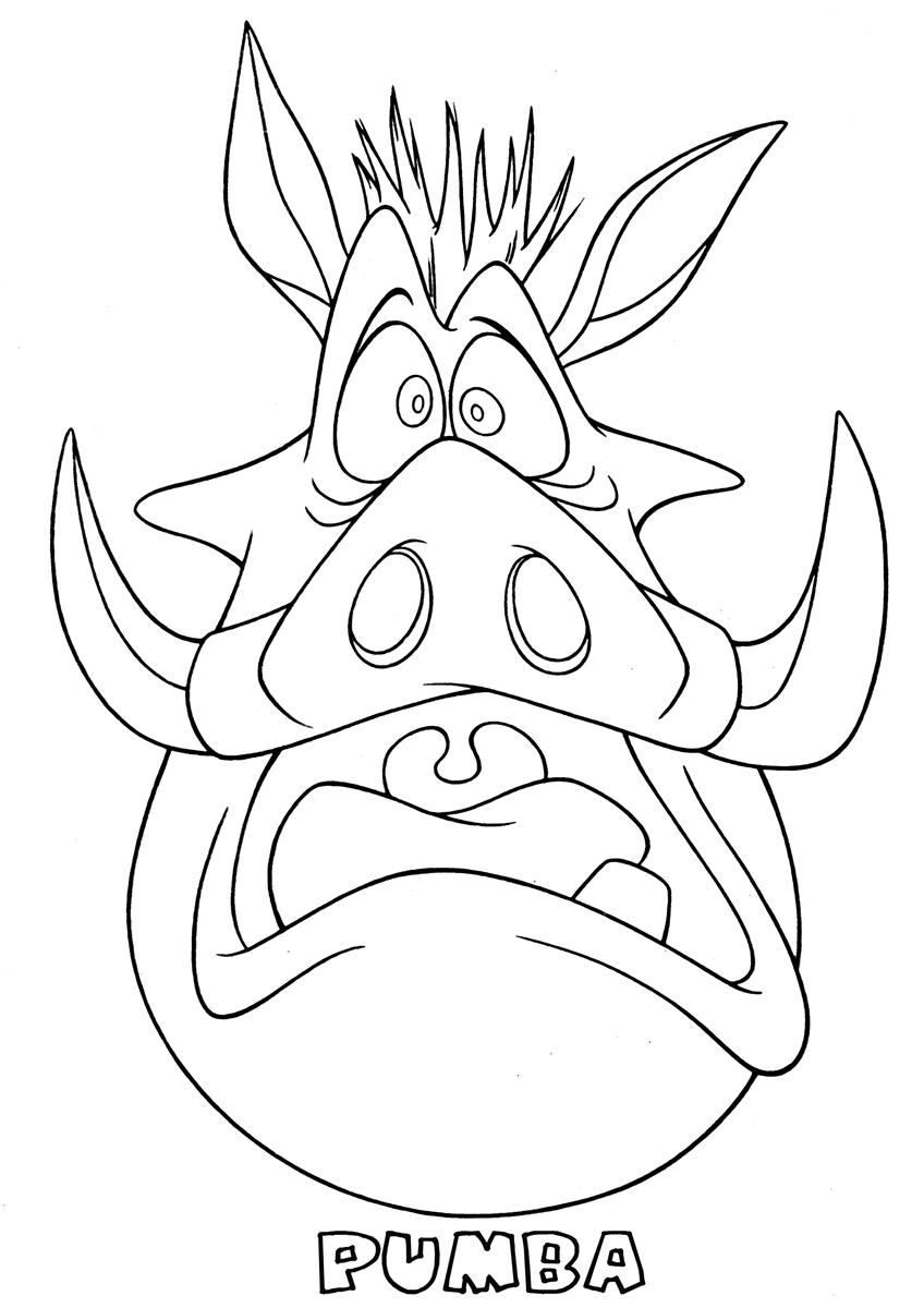 Pumbaa With Timon Coloring Page - Free The Lion King Coloring ... | 1200x848