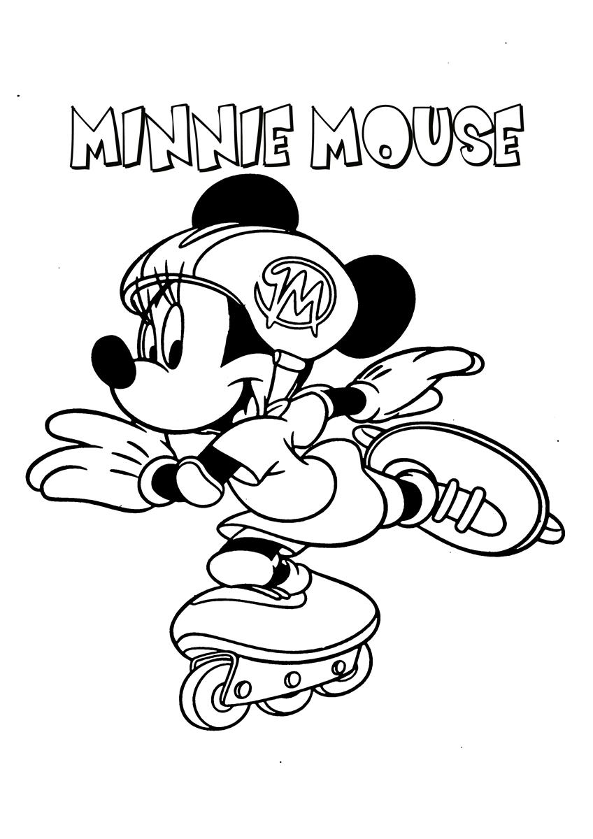 This is a picture of Gutsy mickey and minnie ice skating coloring pages