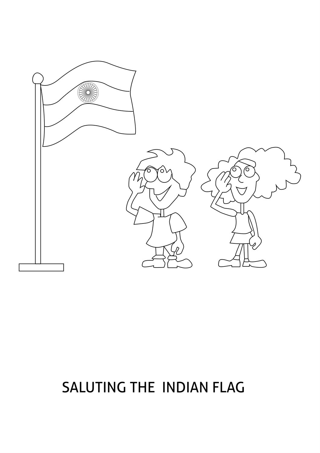 photo regarding Indian Flag Printable called Indian Flag Coloring Webpage